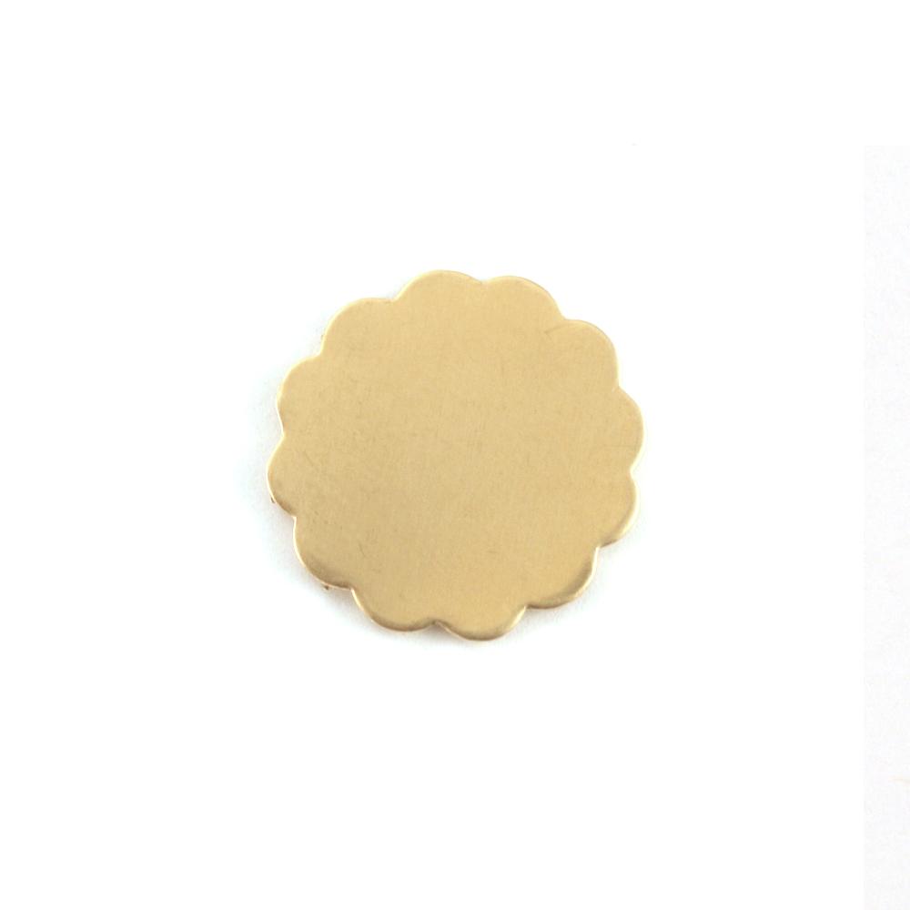 Metal Stamping Blanks Brass Medium 12 Petal Flower, 24 gauge