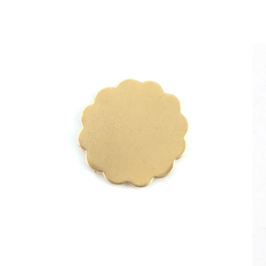 Metal Stamping Blanks Brass Medium 12 Petal Flower, 24 gauge