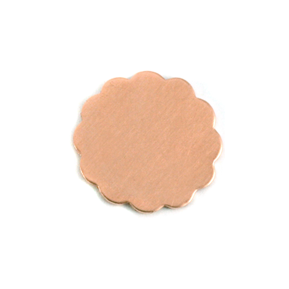 "Metal Stamping Blanks Copper Flower with 12 Petals, 16mm (.63""), 24g"