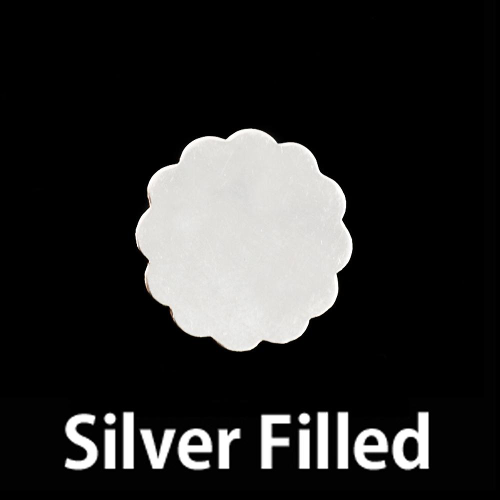 Metal Stamping Blanks Silver Filled Medium 12 Petal Flower, 24g