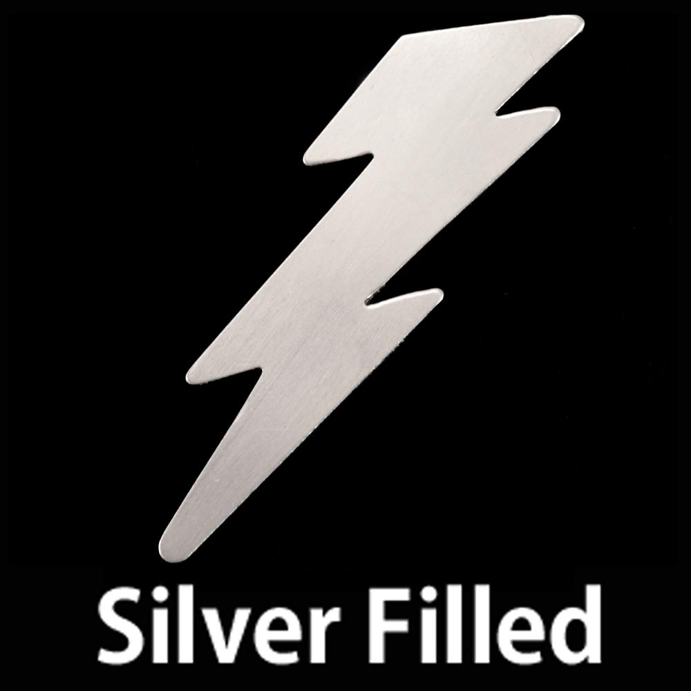 Metal Stamping Blanks Silver Filled Lightning Bolt, 24g