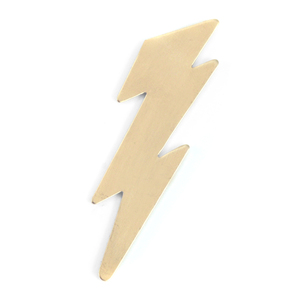 Metal Stamping Blanks Brass Lightning Bolt, 24g
