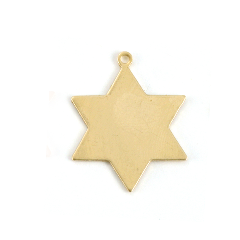 Metal Stamping Blanks Brass 6 Point Star, 24g