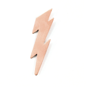 Metal Stamping Blanks Copper Lightning Bolt, 24g