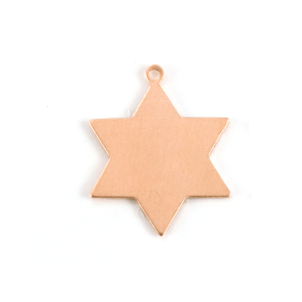 Metal Stamping Blanks Copper 6 Point Star, 24g