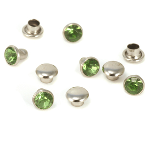 "Rivets,  Findings & Stringing Crystal 5/32"" Snap Rivets, Light Green 5mm, 5 pk"