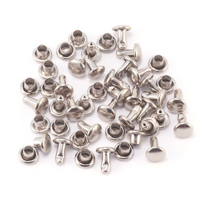 "Rivets and Findings  Nickel Plated 3/32"" Snap Rivets, Pack of 50"