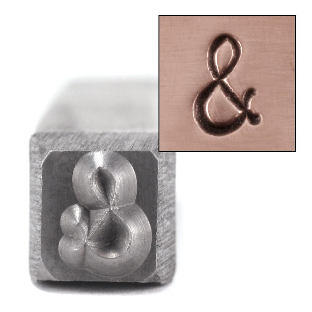 """Metal Stamping Tools Ampersand '&' Metal Design Stamp, 3/16"""""""