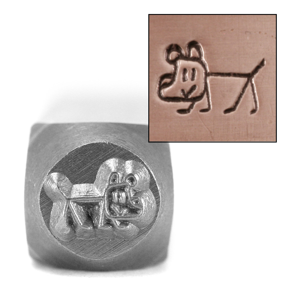Metal Stamping Tools Dog Stick Figure Design Stamp