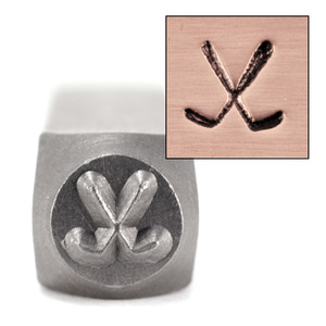 Metal Stamping Tools ImpressArt Hockey Sticks/ Golf Clubs Design Stamp