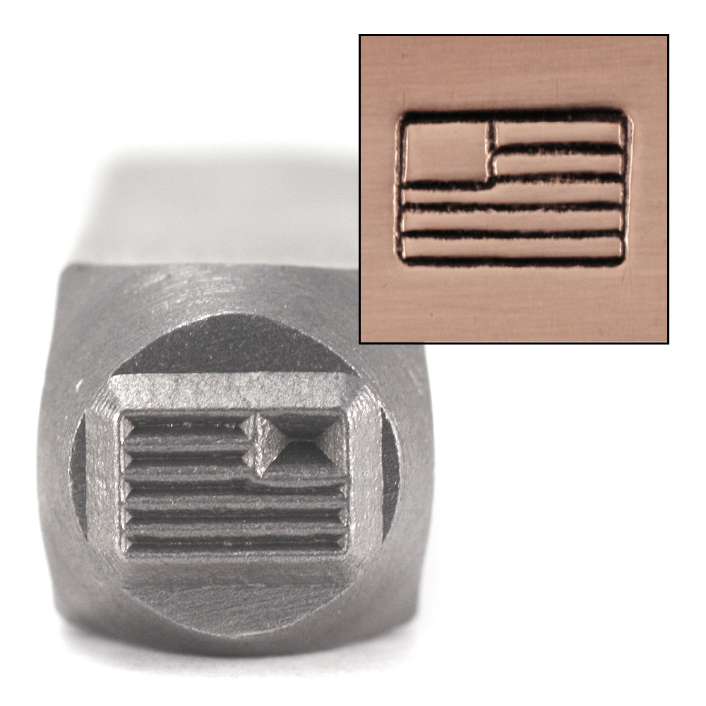 Metal Stamping Tools American Flag Design Stamp by ImpressArt