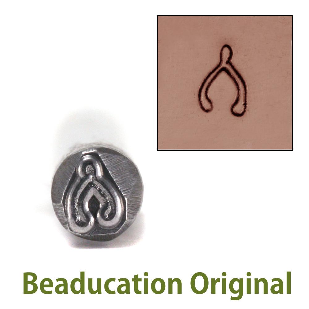 Metal Stamping Tools Wishbone Design Stamp (5mm)- Beaducation Original
