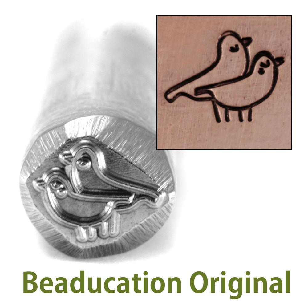 Metal Stamping Tools Pigeons in Love Design Stamp- Beaducation Original