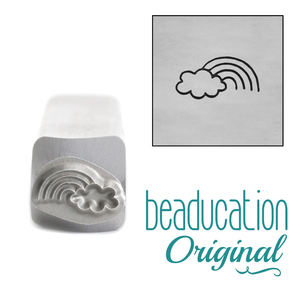 Metal Stamping Tools Rainbow and Cloud Metal Design Stamp, 8mm - Beaducation Original