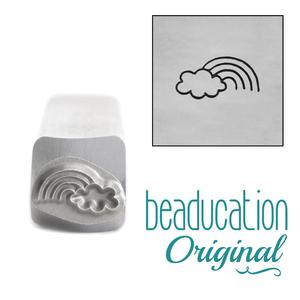 Metal Stamping Tools Rainbow and Cloud Metal Design Stamp, 8mm - Beaducation Original