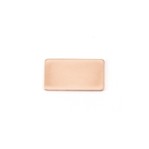 Metal Stamping Blanks Copper Small Rectangle, 24g