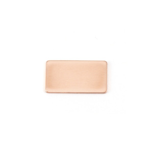 "Metal Stamping Blanks Copper Rectangle, 15mm (.59"") x 8.5mm (.33""), 24g"