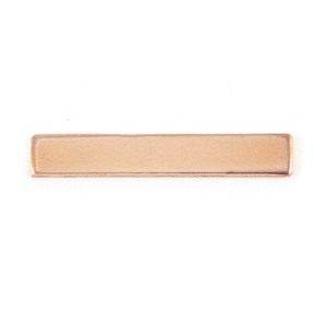 "Metal Stamping Blanks Copper Rectangle Bar, 30.5mm (1.20"") x 5mm (.20""), 18g"