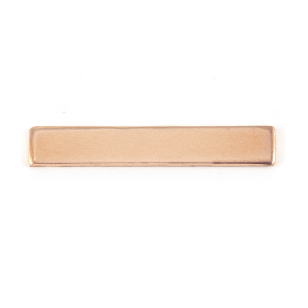 "Metal Stamping Blanks Copper Rectangle Bar, 30.5mm (1.20"") x 5mm (.20""), 24g"