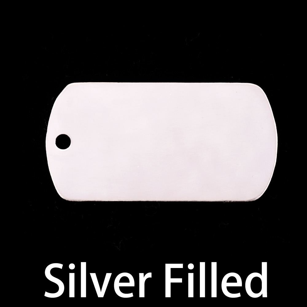 Metal Stamping Blanks Silver Filled Large Dog Tag (no notch), 24g