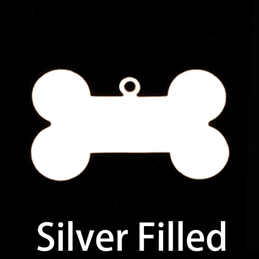 Metal Stamping Blanks Silver Filled Dog Bone with Top Loop, 24g