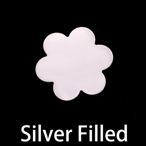 Metal Stamping Blanks Silver Filled Large 6 Petal Flower, 24g