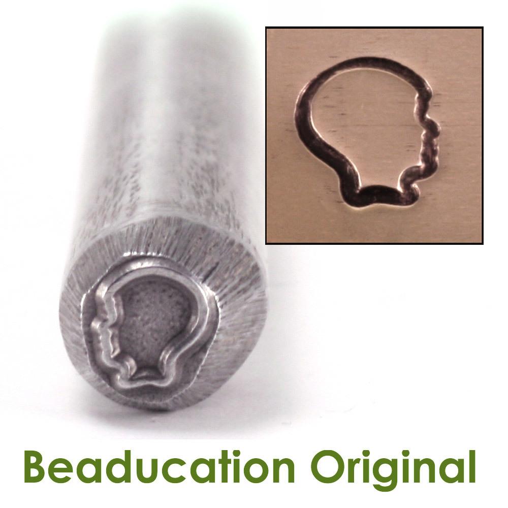 Metal Stamping Tools Boy Silhouette Design Stamp- Beaducation Original