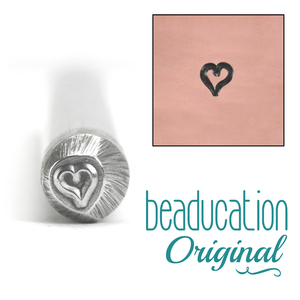 Metal Stamping Tools Tiny Heart Metal Design Stamp - Beaducation Original