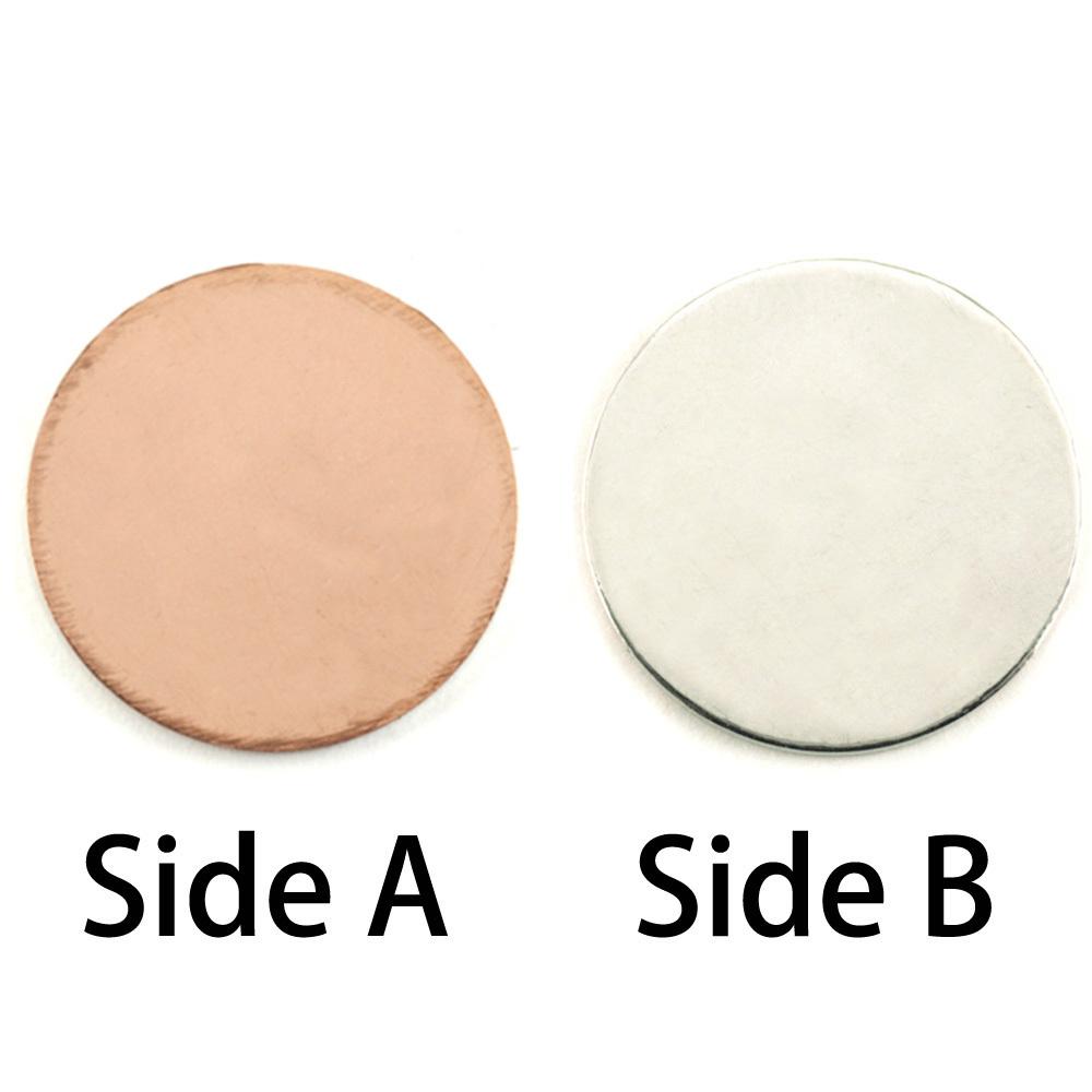 """Metal Stamping Blanks Single Clad 7/8"""" (22mm) Circle, 18g"""