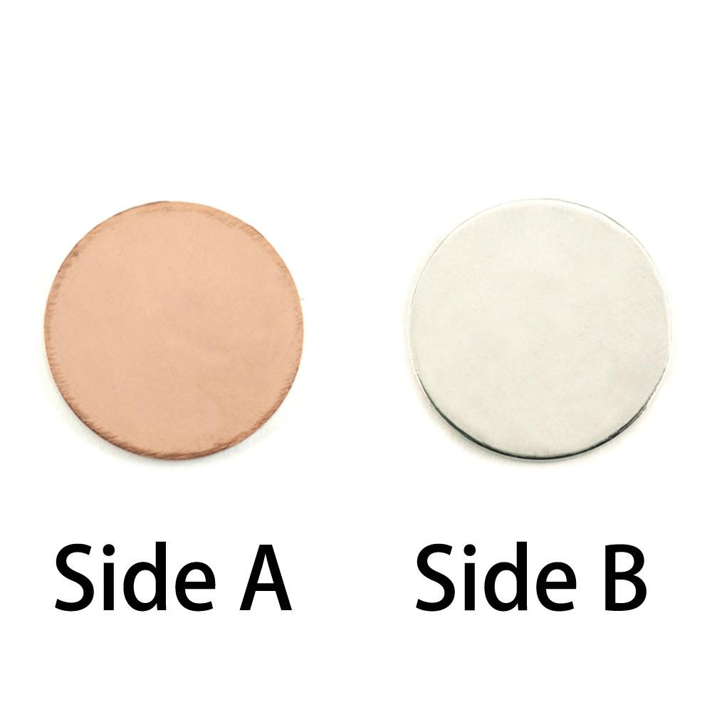 """Metal Stamping Blanks Single Clad Circle, 16mm (.63""""), 18g"""