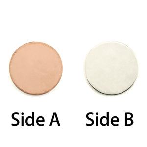 """Metal Stamping Blanks Single Clad 5/8"""" (16mm) Circle, 18g"""
