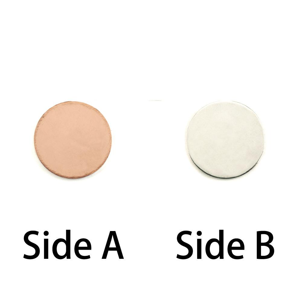 """Metal Stamping Blanks Single Clad 3/8"""" (9.5mm) Circle,18g"""