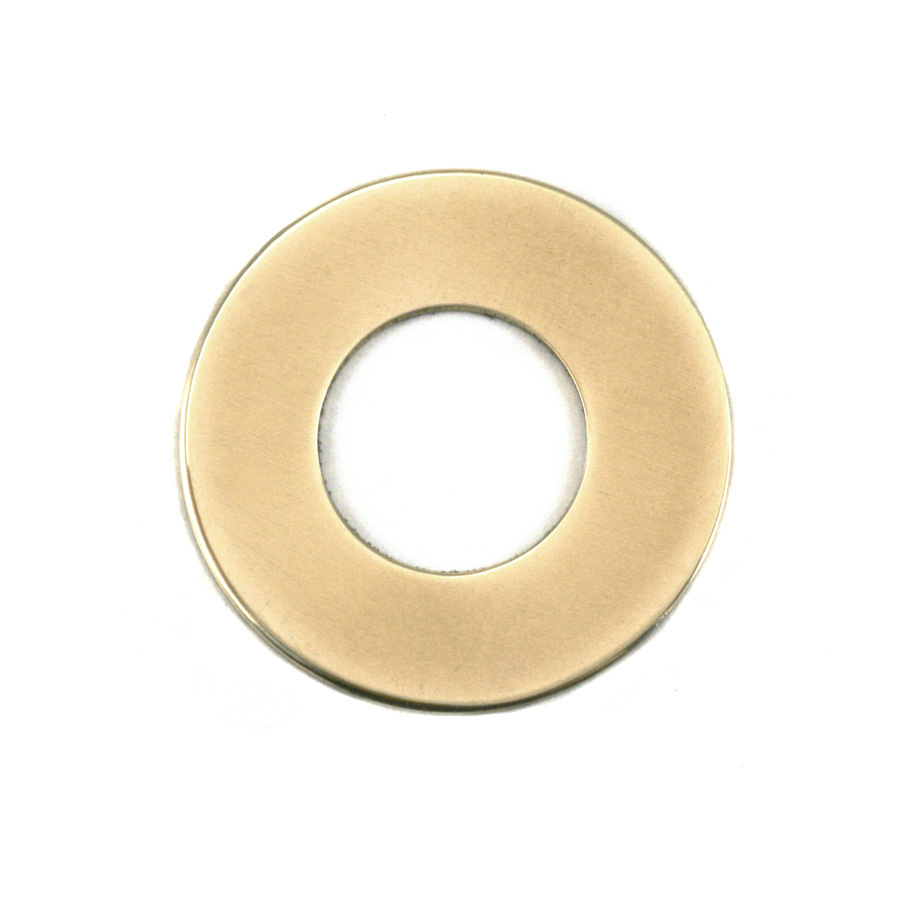 "Metal Stamping Blanks Brass Washer, 25mm (1"") with 13mm (.51"") ID, 24g"
