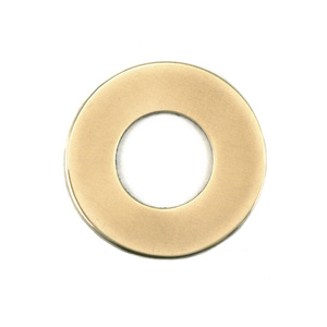 "Metal Stamping Blanks Brass 1"" Washer, 1/2"" ID, 24g"