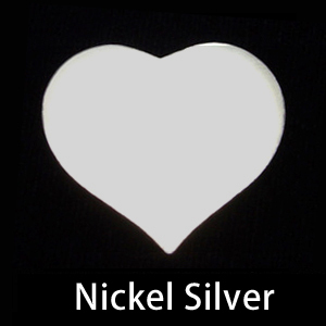 Metal Stamping Blanks Nickel Silver Large Puffy Heart, 24g