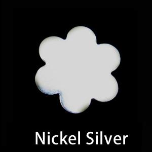 Metal Stamping Blanks Nickel Silver Large 6 Petal Flower, 24g