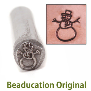 Metal Stamping Tools Snowman Design Stamp- Beaducation Original