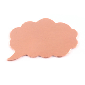 Metal Stamping Blanks Copper Thought Bubble, 24g