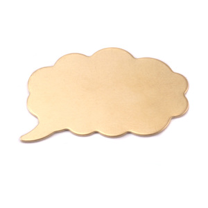 "Metal Stamping Blanks Brass Thought Bubble, 32mm (1.26"") x 21mm (.83""), 24g"