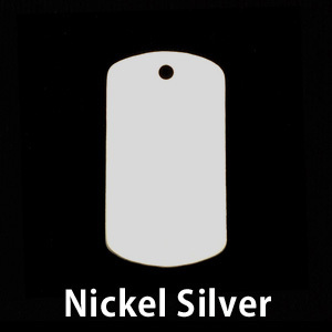 Metal Stamping Blanks Nickel Silver Medium Dog Tag (no notch), 24g