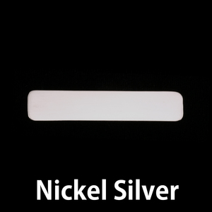 "Metal Stamping Blanks Nickel Silver Rounded Rectangle, 45mm (1.77"") x 10mm (.39""), 24g, Pack of 5"
