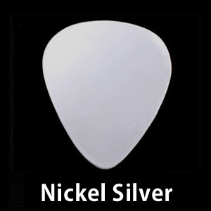 "Metal Stamping Blanks Nickel Silver ""Guitar Pick"" Blank, 24g"