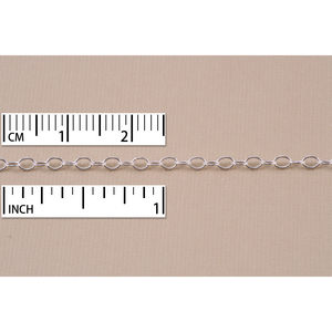 Chain & Jump Rings Silver Filled Small Oval Cable Chain, 3mm x 2mm, by the Inch