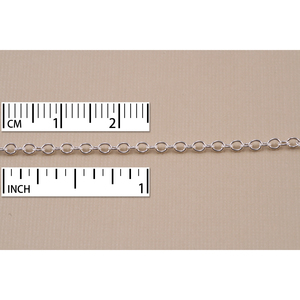 Chain & Jump Rings Sterling Silver Small Round Cable Chain, 2mm, by the Inch