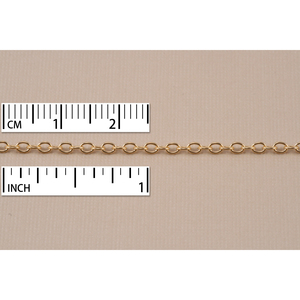 Chain & Clasps Gold Finish, Small Round Cable Chain, 2mm, by the Inch