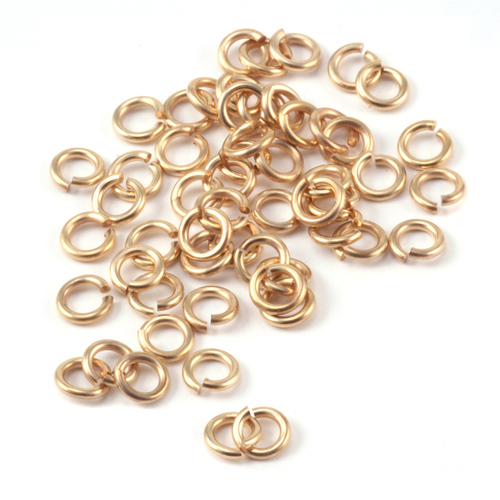 Chain & Jump Rings Matte Gold Tone 3mm I.D. 18 Gauge Jump Rings, 5gm pack