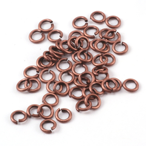 Jump Rings Antique Copper Finish 3mm I.D. 18 Gauge Jump Rings, 5gm pack
