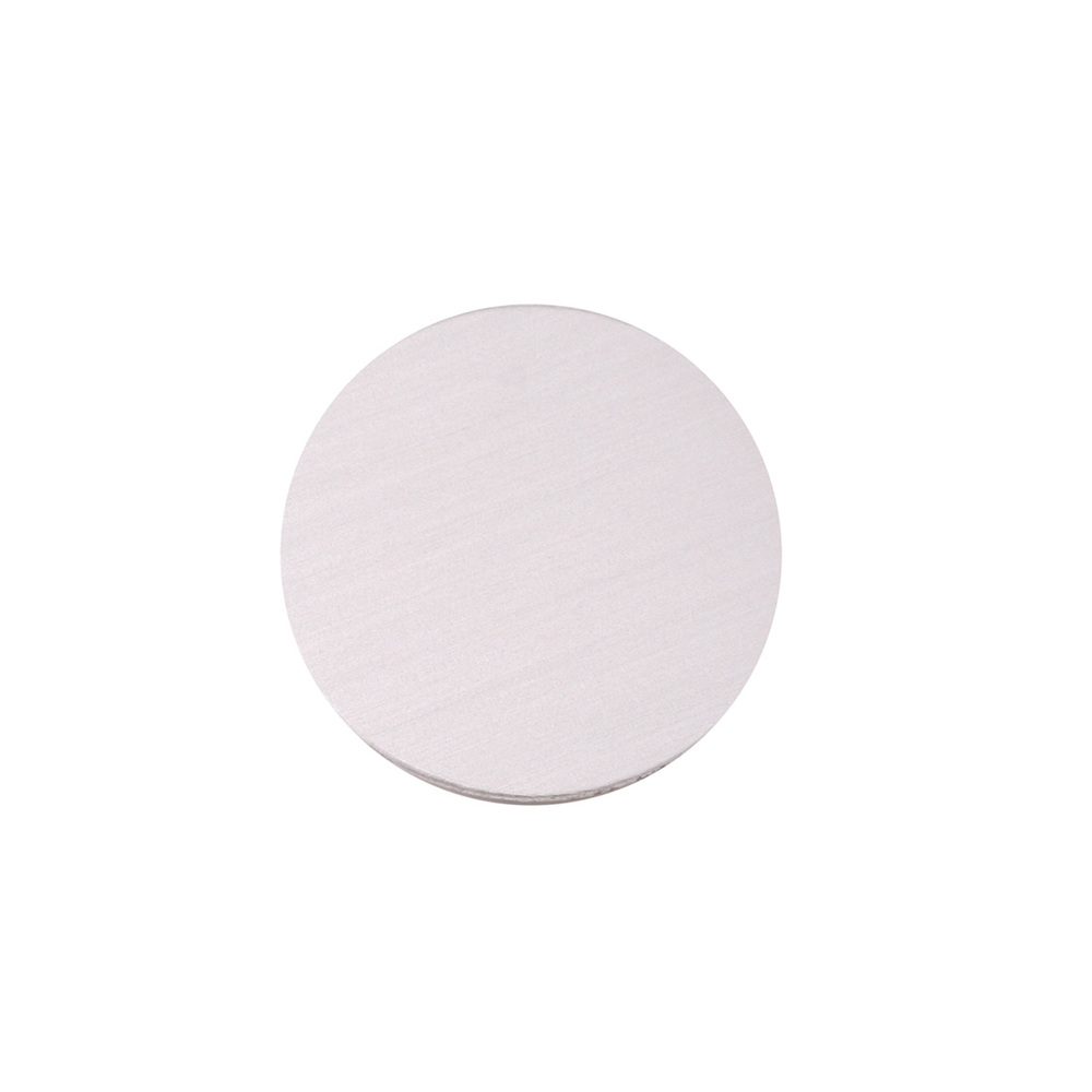 """Metal Stamping Blanks Anodized Aluminum 1/2"""" Circle, Silver, 24g"""