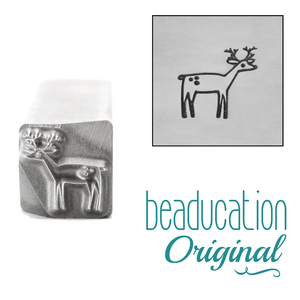 Metal Stamping Tools Deer Metal Design Stamp, 8mm - Beaducation Original