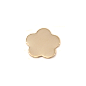 "Metal Stamping Blanks Brass Flower with 5 Petals, 10.5mm (.41""), 24g, Pack of 5"